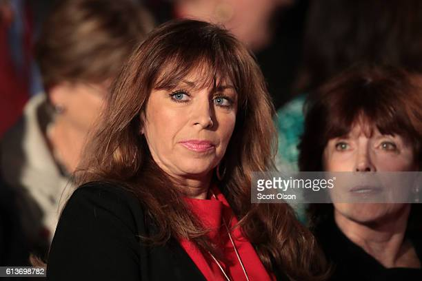 Paula Jones sits before the town hall debate at Washington University on October 9 2016 in St Louis Missouri This is the second of three presidential...