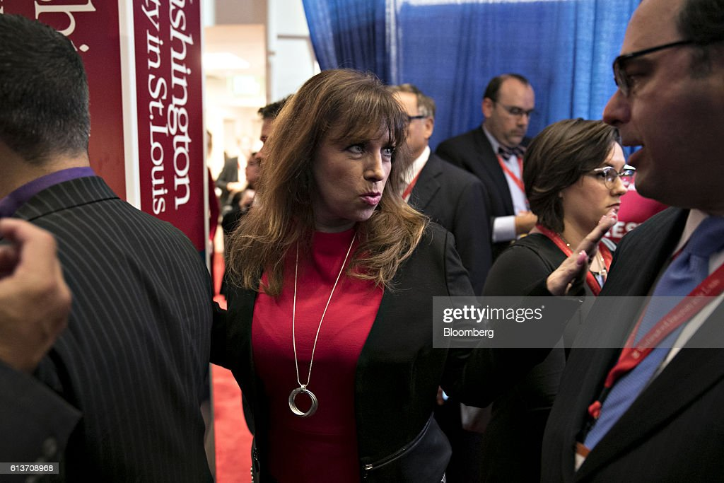 Paula Jones walks through the spin room after the second U.S. presidential debate at Washington University in St. Louis, Missouri, U.S., on Sunday, Oct. 9, 2016. Donald Trump and Hillary Clinton combined salacious charges about past sexual scandals with sober discussion of substantive topics during their second presidential debate Sunday night following a weekend of unprecedented crisis in the Republican nominee's campaign.. Photographer: Daniel Acker/Bloomberg via Getty Images