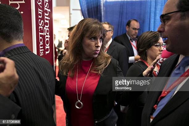 Paula Jones walks through the spin room after the second US presidential debate at Washington University in St Louis Missouri US on Sunday Oct 9 2016...