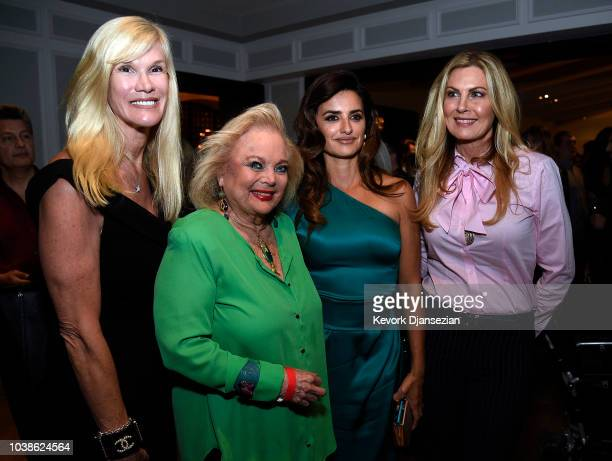 Paula Karcher Carol Connors Penelope Cruz and Tracy Bunte pose during the Universal Pictures Home Entertainment Content Group's Loving Pablo after...