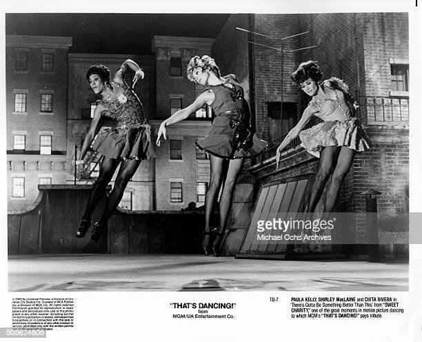 Paula Kelly Shirley MacLaine and Chita Rivera dance in 'There's Gotta Be Something Better Than This ' from ' Sweet Charity ' in the tribute to dance...