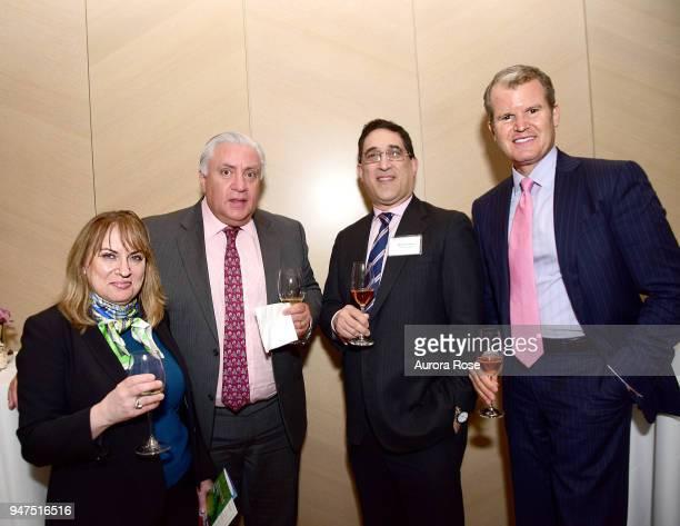 Paula Laliberte Jim LeRose Richard Levine and Stephen Lerangis attend Launch Of New Entity Withers Global Advisors at 432 Park Avenue on April 3 2018...