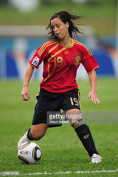 Paula Lopez of Spain in action during the FIFA U17 Women's World Cup Group C match between Spain and Japan at the Ato Boldon Stadium on September 6...