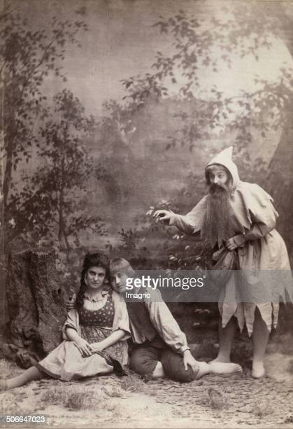 Paula Mark as Gretel Marie Ranard as Hansel and Irene Abendroth as the Sandman in the opera >Hansel and Gretel< by Engelbert Humperdinck Vienna...
