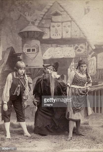 Paula Mark as Gretel Marie Ranard as Hansel and Marie Lehmann as the Gingerbread Witch in the opera >Hansel and Gretel< by Engelbert Humperdinck...