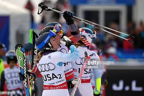 Paula Moltzan of the United States looks on during the Nations Team Event at Golden Peak Stadium on Day 9 of the 2015 FIS Alpine World Ski...