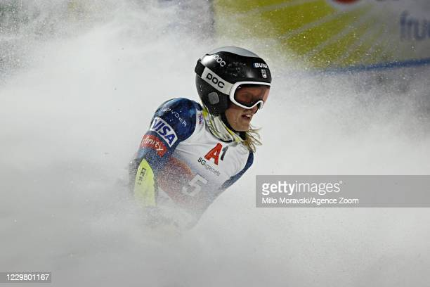 Paula Moltzan of USA in action during the Audi FIS Alpine Ski World Cup Women's Parallel Giant Slalom on November 26, 2020 in Lech Austria.