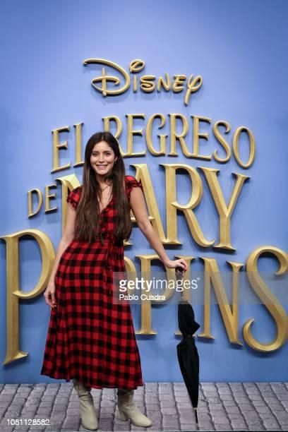 Paula Moya attends 'El Regreso de Mary Poppins' premiere at Kinelpolis cinema on December 11 2018 in Madrid Spain