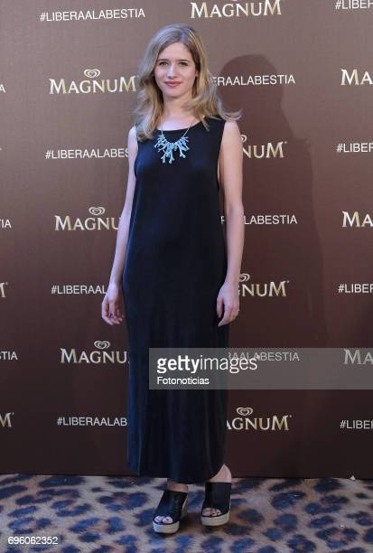 Paula Munoz attends the Magnum new campaign presentation party at the Palacete de Fortuny on June 14 2017 in Madrid Spain
