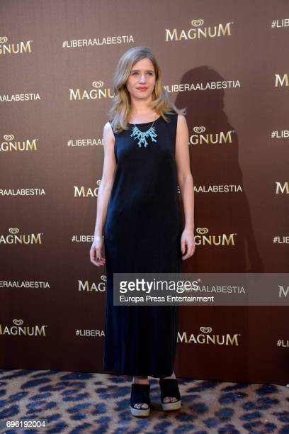Paula Muñoz attends the Magnum new campaign presentation party at the Palacete de Fortuny on June 14 2017 in Madrid Spain
