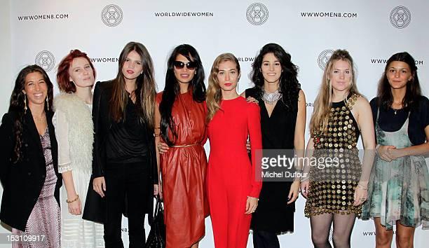 Paula Nazarian Anna Pahlavi Alessandra Rehder Goga Ashkenazi Anouska Beckwith Tanya Benet Nina Koltchitskaya and Claudia Legge attend the 'A...