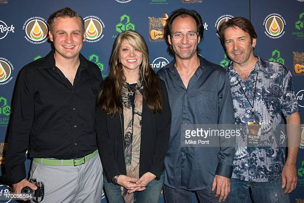 Paula Nelson and The Paula Nelson Band attend Hard Rock International's Wille Nelson Artist Spotlight Benefit Concert at Hard Rock Cafe Times Square...