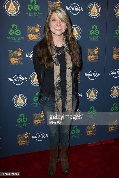 Paula Nelson attends Hard Rock International's Wille Nelson Artist Spotlight Benefit Concert at Hard Rock Cafe Times Square on June 6 2013 in New...