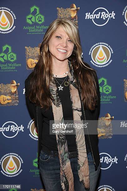 Paula Nelson attends the Hard Rock International's Wille Nelson Artist Spotlight Benefit Concert at Hard Rock Cafe Times Square on June 6 2013 in New...