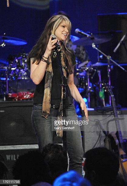 Paula Nelson performs on stage at the Hard Rock International's Wille Nelson Artist Spotlight Benefit Concer at Hard Rock Cafe Times Square on June 6...