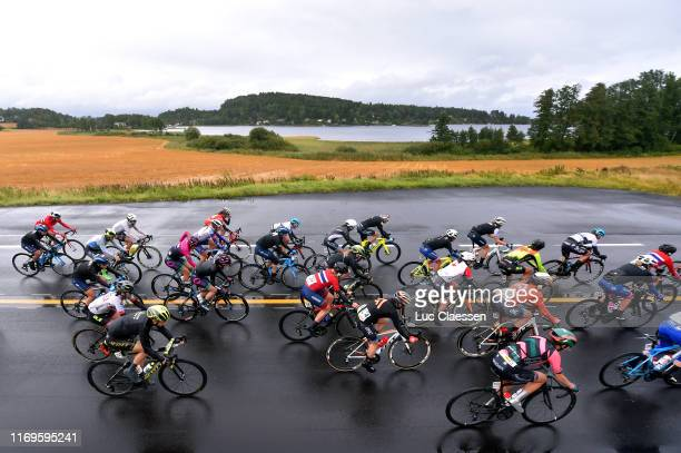 Paula Patiño of Colombia and Movistar Team / Vibeke Lystad of Norway and Team Norway / Lourdes Oyarbide of Spain and Movistar Team / Eri Yonamine of...