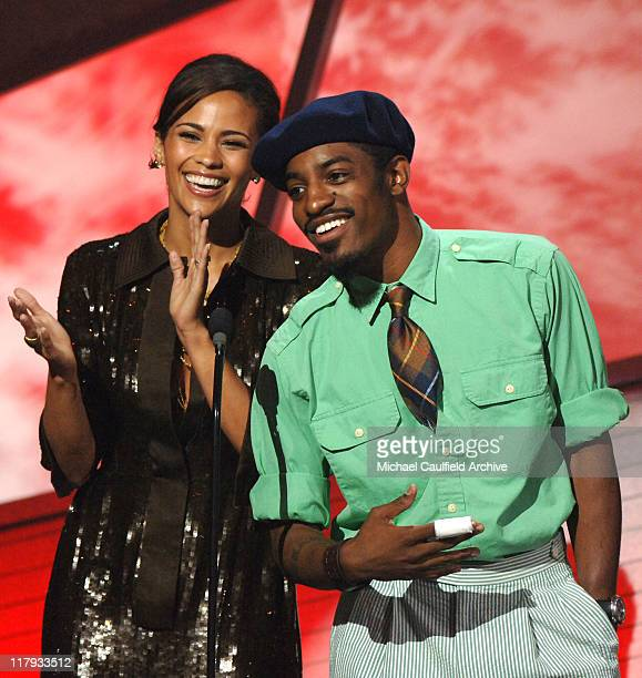 Paula Patton and Andre 'Andre 3000' Benjamin during 2006 ESPY Awards Show at Kodak Theatre in Los Angeles California United States