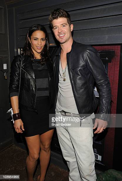 Paula Patton and Robin Thicke attends a private dinner hosted by CHANEL for Karl Lagerfeld at 82 Mercer on September 9 2010 in New York City
