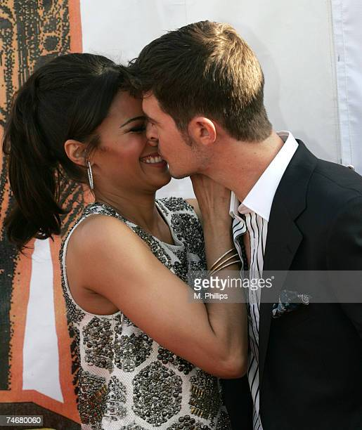 Paula Patton and Robin Thicke nominee Best RB/Soul Album Male for 'The Evolution of Robin Thicke'' at the Pasadena Civic Center in Pasadena California