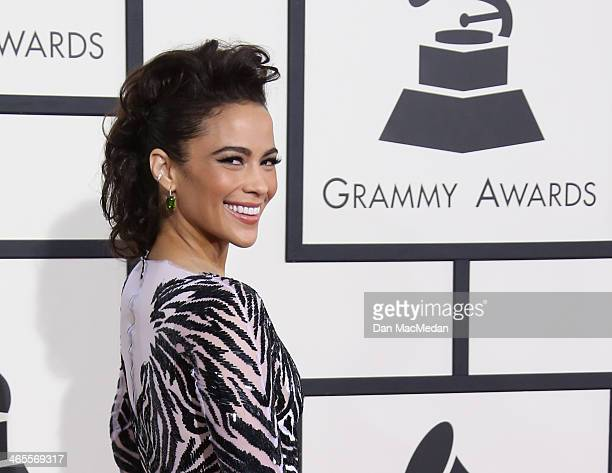 Paula Patton arrives at the 56th Annual GRAMMY Awards at Staples Center on January 26 2014 in Los Angeles California