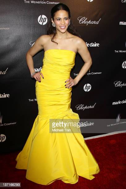 Paula Patton arrives at the Weinstein Company's 2012 Golden Globe afterparty held at Bar 210 at The Beverly Hilton hotel on January 15 2012 in...
