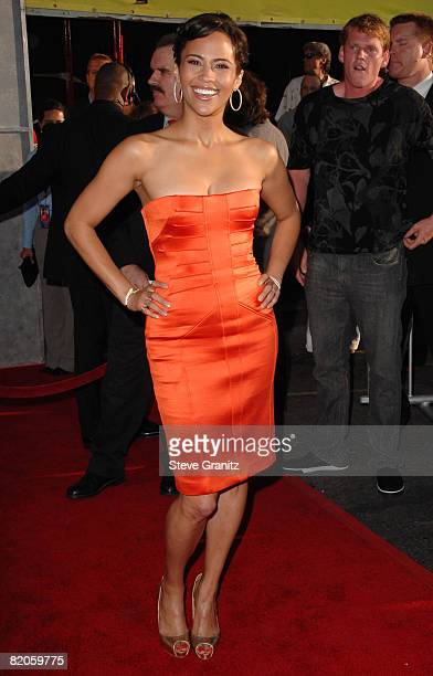 Paula Patton arrives at theWorld Premiere of 'Swing Vote' at the El Capitan Theatre on July 24 2008 in Hollywood California