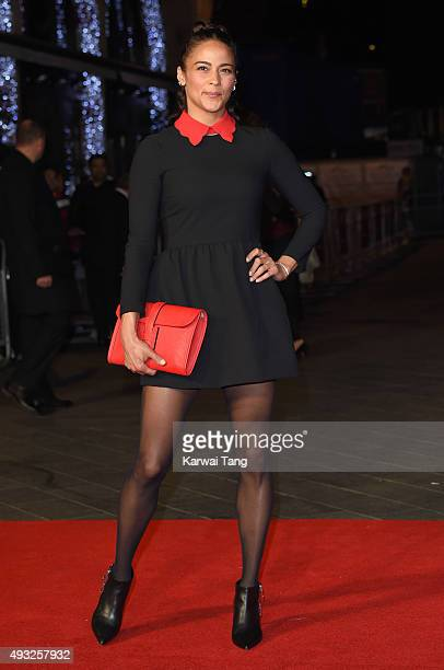 Paula Patton attends a screening of 'Steve Jobs' on the closing night of the BFI London Film Festival at Odeon Leicester Square on October 18 2015 in...