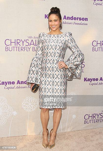 Paula Patton attends the 14th annual Chrysalis Butterfly Ball sponsored by Audi, Kayne Anderson, Lauren B. Beauty and Z Gallerie on June 6, 2015 in...