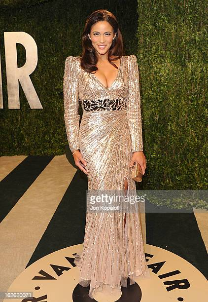 Paula Patton attends the 2013 Vanity Fair Oscar party at Sunset Tower on February 24 2013 in West Hollywood California