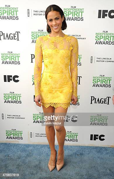 Paula Patton attends the 2014 Film Independent Spirit Awards at Santa Monica Beach on March 1 2014 in Santa Monica California