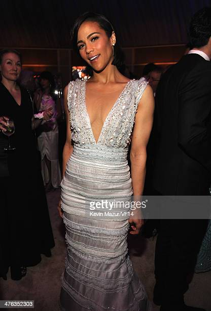Paula Patton attends the 2014 Vanity Fair Oscar Party Hosted By Graydon Carter on March 2 2014 in West Hollywood California