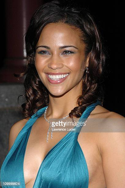 Paula Patton during Hitch World Premiere Arrivals at Ellis Island in New York City New York United States