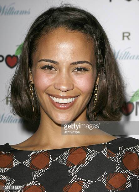 Paula Patton during POM Tea Hosts Byron Williams Salon Opening at Byron Williams in Beverly Hills California United States
