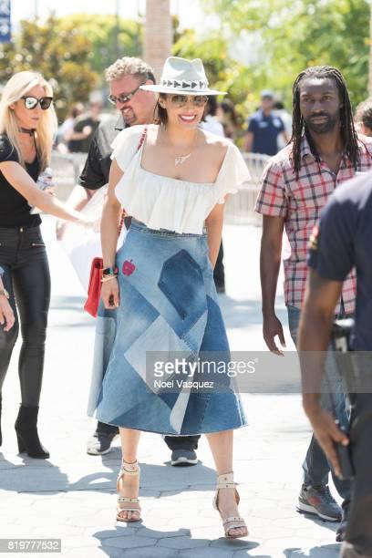 Paula Patton visits Extra at Universal Studios Hollywood on July 20 2017 in Universal City California