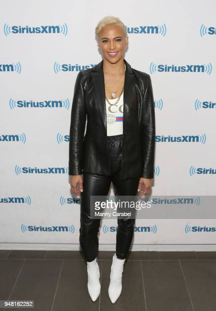 Paula Patton visits the SiriusXM studios on April 18 2018 in New York City