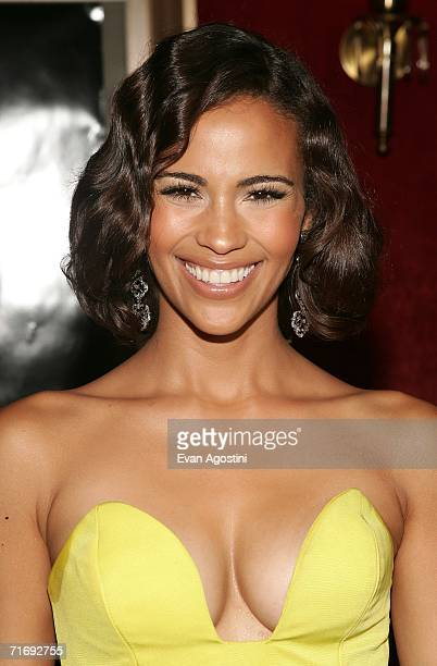 Paula Patton wife of actor Antwan A Patton attends Universal Pictures HBO Films premiere of Idlewild at the Ziegfeld Theatre August 21 2006 in New...