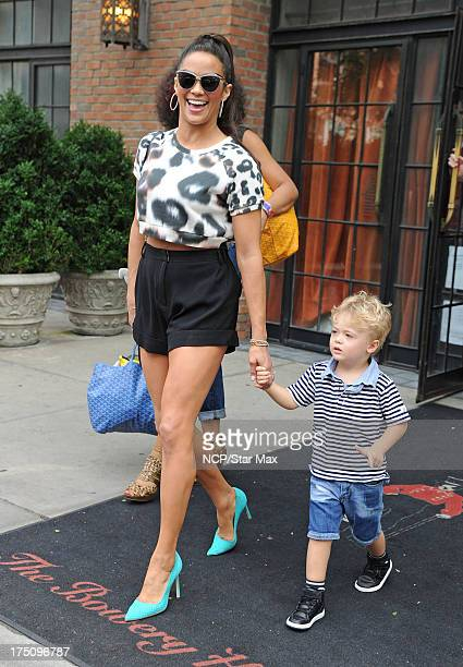 Paula Patton with her son Julian Thicke as seen on July 31 2013 in New York City