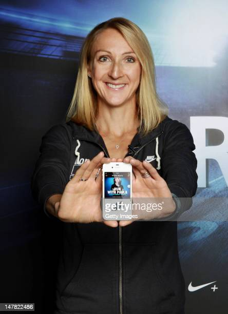 Paula Radcliffe attends the launch of Priority Sports a partnership between Nike and O2 to create the world's biggest clubhouse on July 04 2012 in...