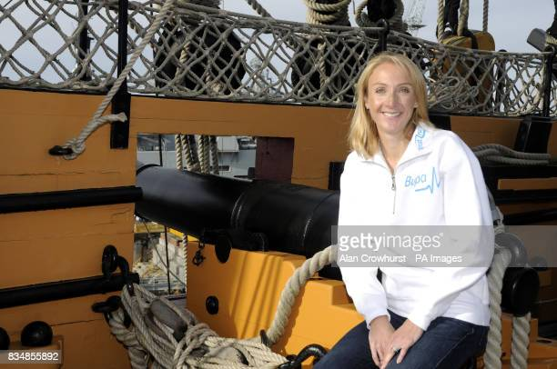 Paula Radcliffe during a photocall at the HMS Victory Portsmouth