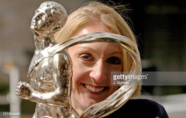Paula Radcliffe during Flora London Marathon 2005 Winners Photocall at The Thistle Tower Hotel in London Great Britain