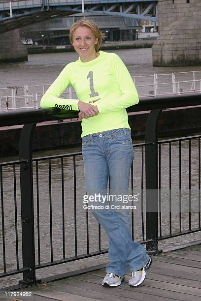 Paula Radcliffe during Nike Run London Photocall at Thistle Tower Hotel in London Great Britain