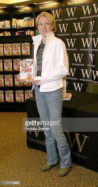 Paula Radcliffe during Paula Radcliffe Signs Copies of Her Book 'Paula My Story So Far' at Waterstones Oxford St in London Great Britain