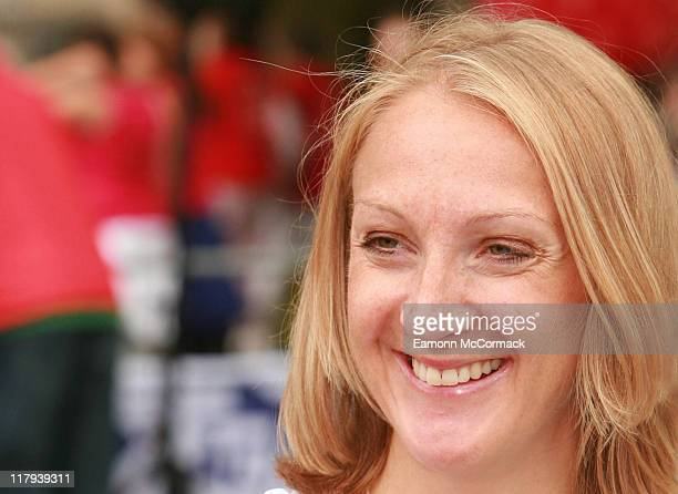 Paula Radcliffe during The Hydro Active Women's Challenge 2006 Photocall at Hyde Park in London Great Britain
