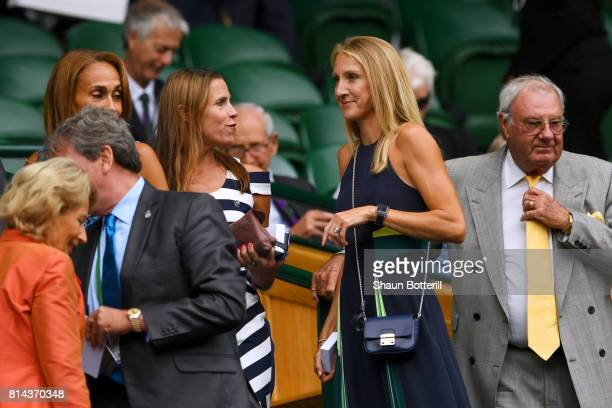 Paula Radcliffe looks on from the centre court royal box on day eleven of the Wimbledon Lawn Tennis Championships at the All England Lawn Tennis and...