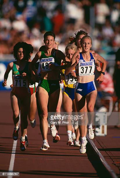 Paula Radcliffe of Great Britain during the Women's 5000 metres at the IAAF World Championships in Athletics on 12 August 1995 in the Ullevi Stadium...