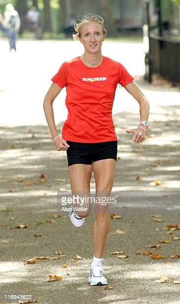 Paula Radcliffe pictured on her first training run in Hyde Park in the build up to RunLondon RunLondon will take place on October 16th and will be...