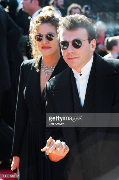 Paula Ravets and husband Paul Reiser during 1993 Emmy Awards Arrivals in Los Angeles California