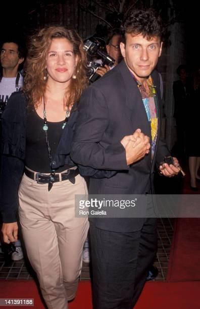 Paula Ravets and Paul Reiser at the Premiere of 'Die Hard 2' Avco Center Theater Westwood