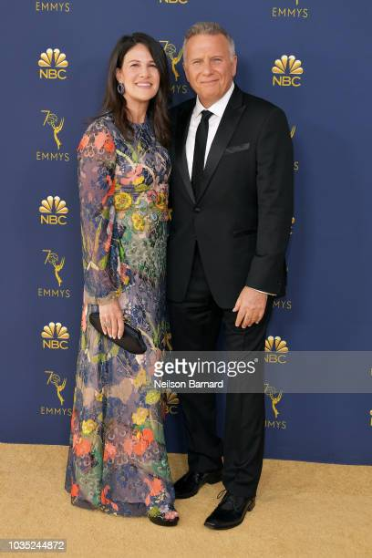 Paula Ravets and Paul Reiser attend the 70th Emmy Awards at Microsoft Theater on September 17 2018 in Los Angeles California