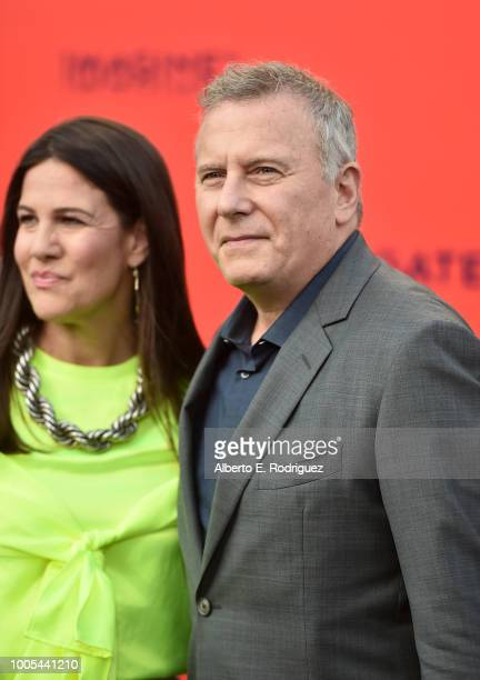 Paula Ravets and Paul Reiser attend the Premiere Lionsgate's The Spy Who Dumped ME at the Fox Village Theater on July 25 2018 in Los Angeles...